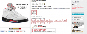 Eastbay Online Restocks Retro 5 Fire Red