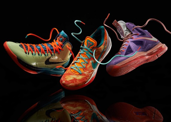 All Star Area 72 (AKA Ray Gun) Lebron X, Kobe 8 and KD V