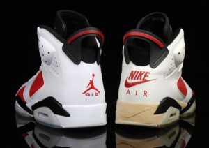 Retro 6 Carmine from 2008 Countdown Pack vs Original Retro 6 Carmine from 1989