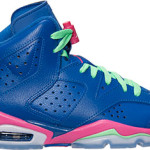 Jordan Retro 6 Game Royal Vivid Pink GS 3/15