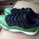 Jordan Retro 11 Low Green Snakeskin
