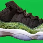 Jordan Retro 11 Low Green Snakeskin