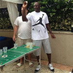 Jordan wearing the Concord Low during a game of beer pong in November 2013