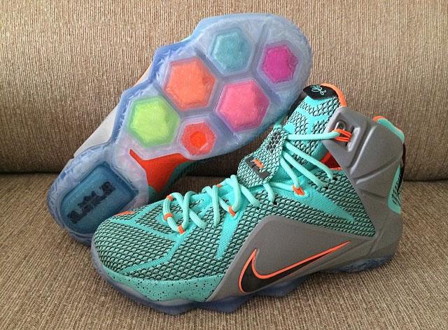 nike-lebron-12-teal-grey-orange-6 - Cop These Kicks