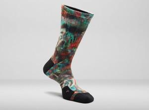 LeBron 11 Black Gum Nike Elite Digital Ink Socks
