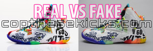 WTL11 What The LeBron 11 Real vs Replica Fake compatison