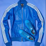 Adidas Consortium x  Pharrell Williams Solid Leather Track Jacket and Stan Smith Blue