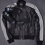 Adidas Consortium x  Pharrell Williams Solid Leather Track Jacket and Stan Smith Black