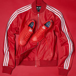 Adidas Consortium x  Pharrell Williams Solid Leather Track Jacket and Stan Smith Red