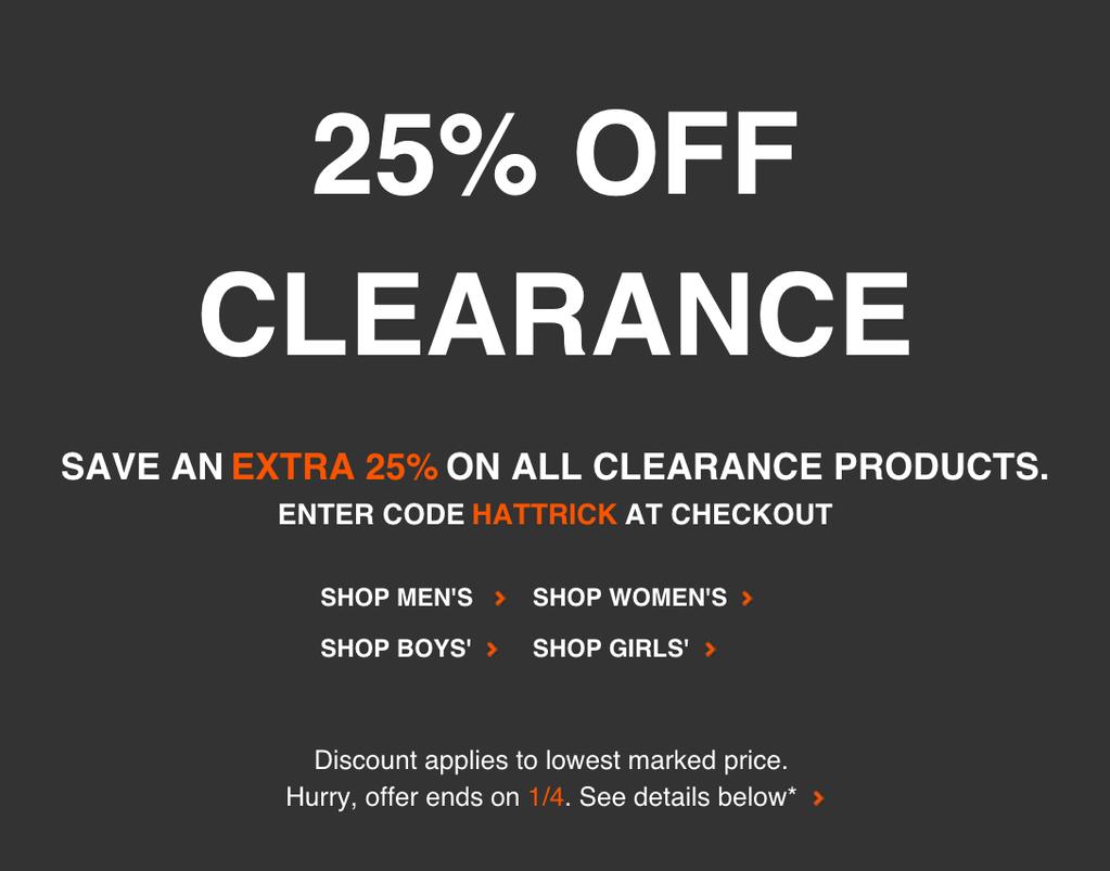 Nike 25% Coupon