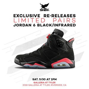Air Jordan Retro 6 Black Infrared Restock