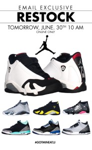 June 30th Jimmy Jazz Restock Retro 14 and Retro 3