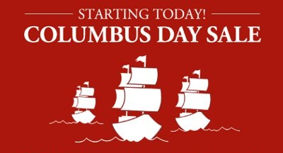 Columbus Day Weekend Steals and Coupons