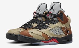 NikeLab Supreme x Jordan Retro 5 Camo