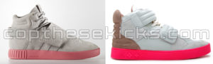Comparison of the Adidas Tubular Invader Strap BA7878 and the Kanye West x LV Jasper 759438