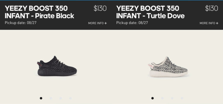 Infant Yeezy Launch on the Adidas Confirmed App
