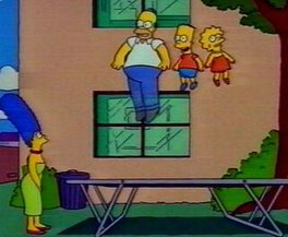 trampoline simpsons