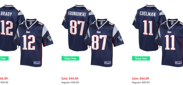 PATS FANS – Brady and Gronk Jerseys are 55% OFF! – Only $45 with FREE Shipping
