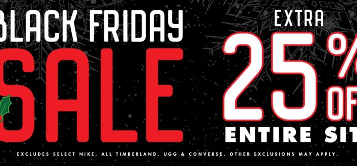 Kicks USA 25% Off Black Friday Sale
