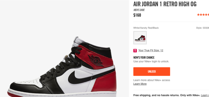 Jordan Retro 1 Black Toe Early Access