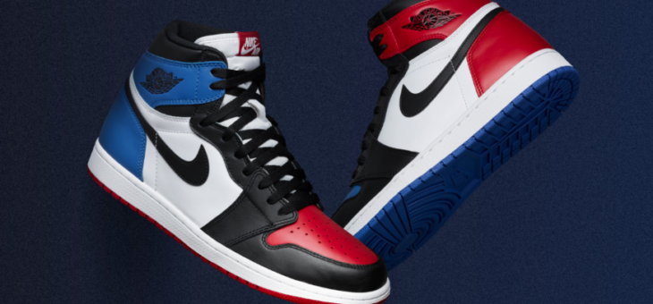 "Jordan Retro 1 High OG ""Top Three"" Release Links"