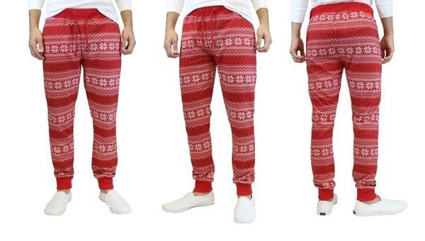"""Ugly Christmas Sweater"" French Terry Knit Joggers on sale for $15"