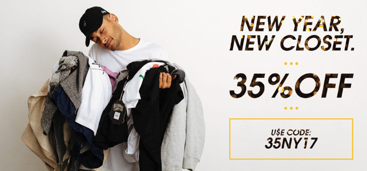 35% Off Kicks and Clothing New Years Sale