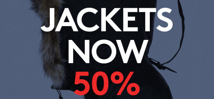 50% Off Jackets and Coats – Includes Adidas, North Face and Yeezy