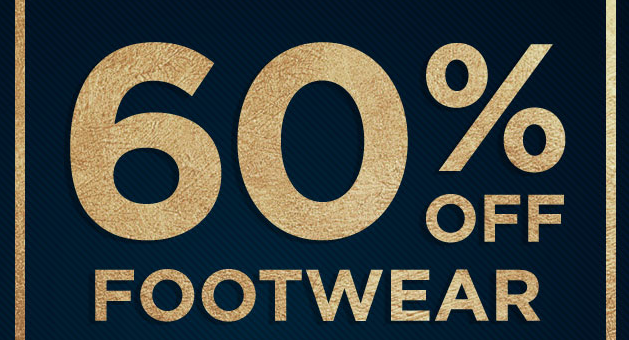 Save 60% Off Footwear during this New Year Sale