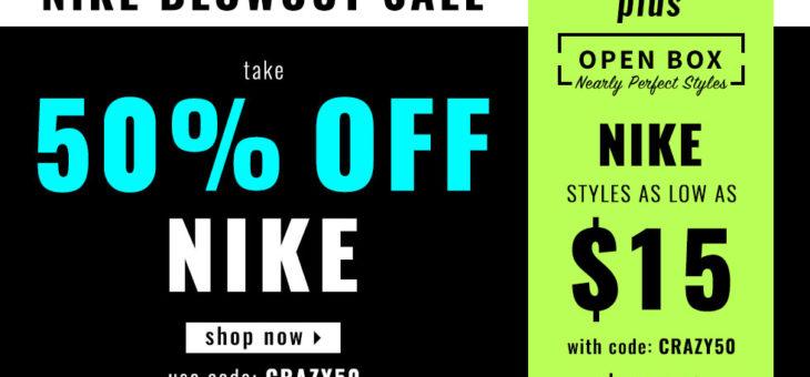 50% Off Nike & Jordan Coupon
