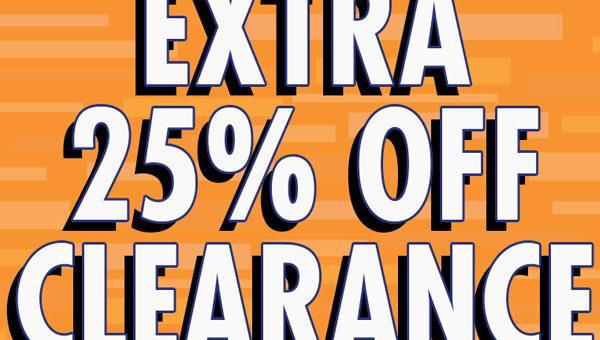 Extra 25% Off Already Reduced Kicks and Clothing