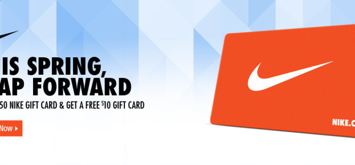 $60 Nike Gift Card for $50