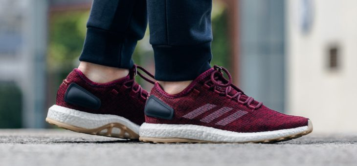 adidas Pure Boost Burgundy on sale for $88 w/Free Shipping
