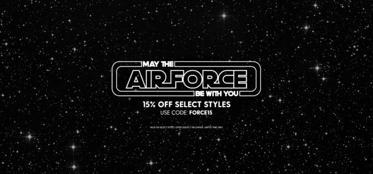 15% off Nike AF1 Star Wars Day Coupon