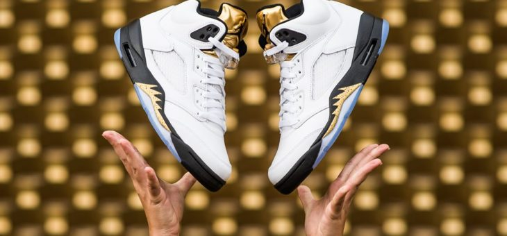 Jordan Retro 5 Gold Medal on sale for $120 with Free Shipping