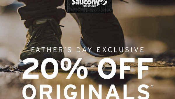 TODAY ONLY – 20% off Saucony Originals Father's Day Sale