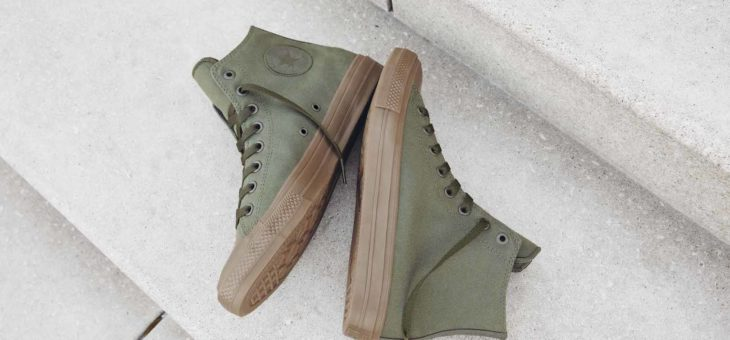 "Converse Chuck Taylor All Star II Hi Gum Pack ""Herb"" on sale for $45 (retail $80)"