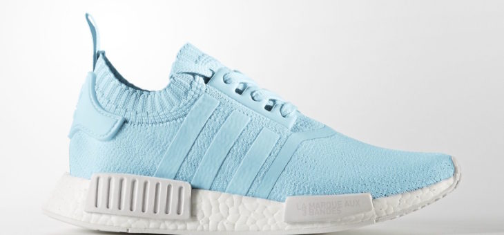 adidas NMD_R1 PrimeKnit Ice Blue and Grey Three Release Links