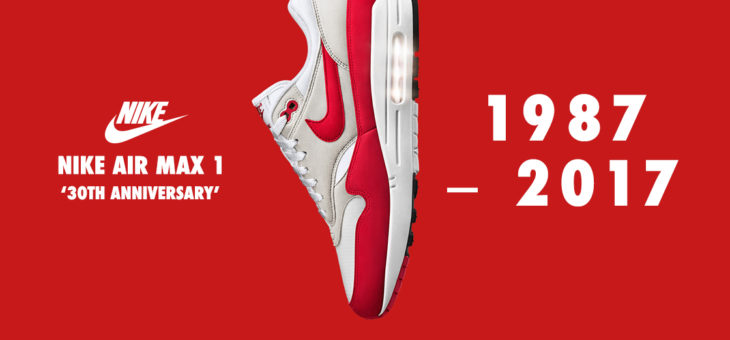 "Nike Air Max 1 OG ""Anniversary"" Red Restock Coming (908375-103)"