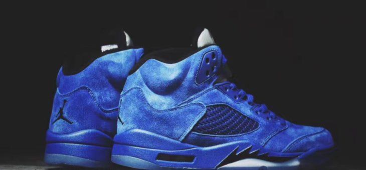 """Jordan Retro 5 Blue Suede """"Flight Jacket"""" Release Links"""