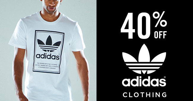 40% off adidas apparel