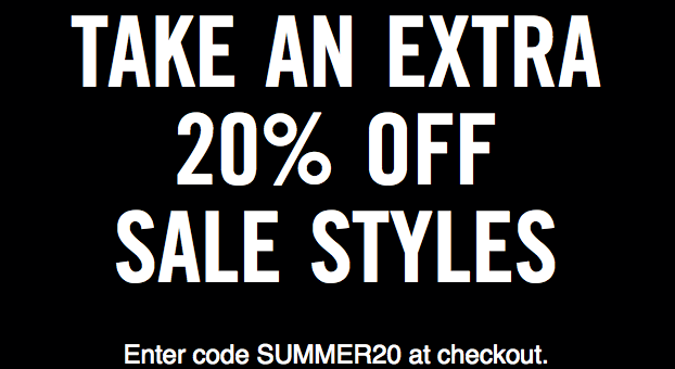 Extra 20% off Nike and Jordan with coupon SUMMER20