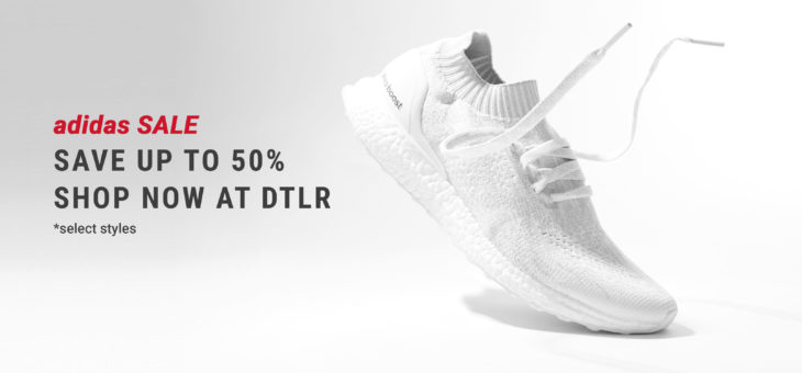 Up to 50% off Adidas during this DTLR Sale