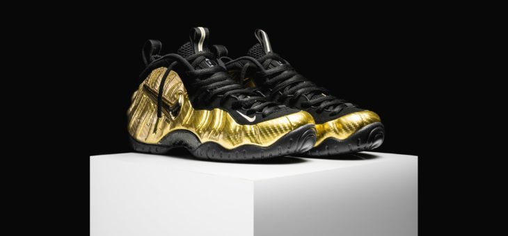 Nike Air Foamposite Pro Gold on sale for $180 (retail $220)