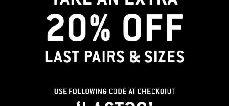 """Extra 20% off """"Last Sizes"""" at UI"""