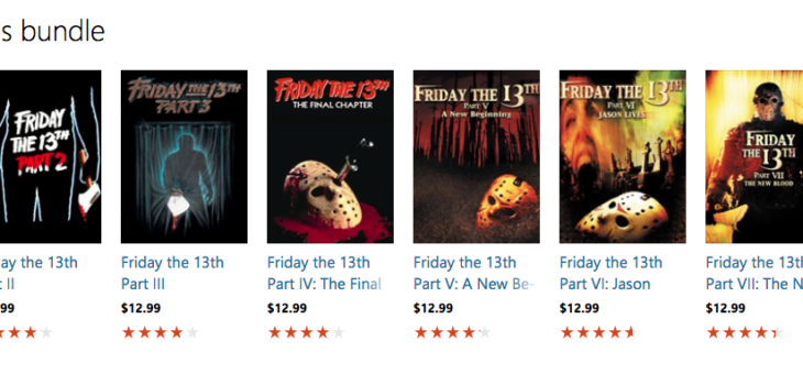 Friday the 13th 8 Movie Bundle on sale for only $13