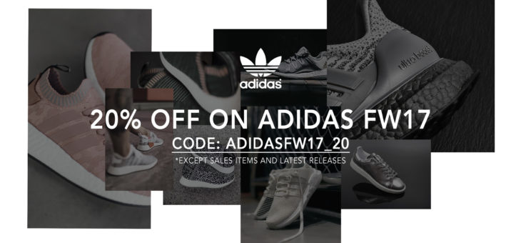 Save 20% off Adidas FW'17 Collection