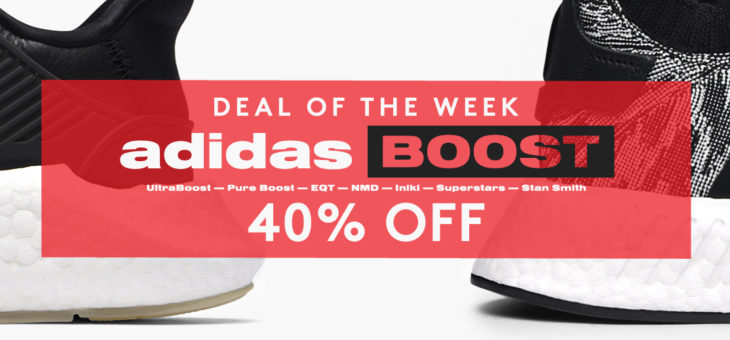 40% off adidas BOOST
