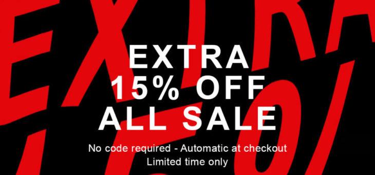 EXTRA 15% off kicks at END