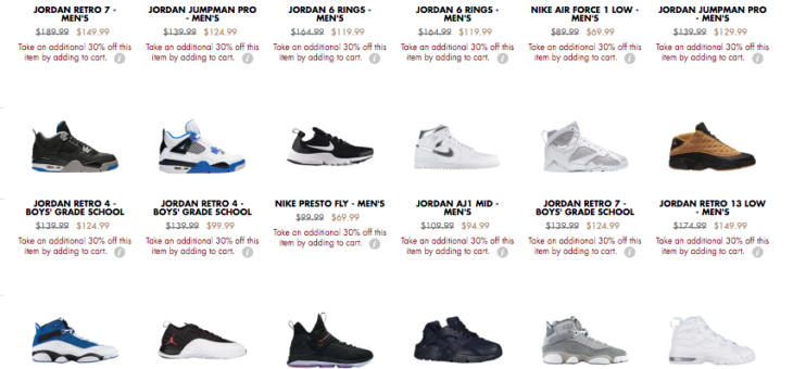 EXTRA 30% off Kicks on sale
